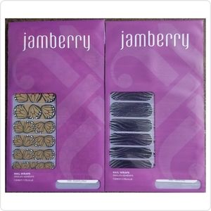 💥5 for 25💥Jamberry Nail Wraps 2 Full Sheets